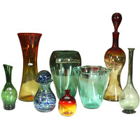G4 Decor, LLC - Blenko Glass - Collection Of Blown Art Glass Vases & Jars - 1stdibs