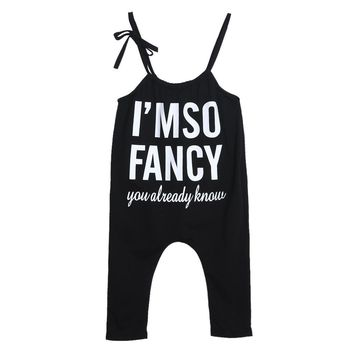Toddler Kids Cotton Overalls European Style Boys Girls Pants Baby Letter Print Suspender Kids Clothing Casual Clothes
