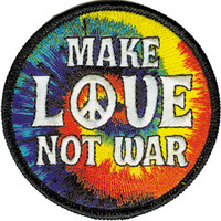 Tie Dye Make Love Not War Patch on Sale for $4.99 at HippieShop.com