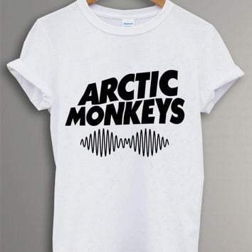 New - ARCTIC MONKEYS Band Tour 2014 Tee Shirt Black and White For Men and Women Unisex Size - Code A
