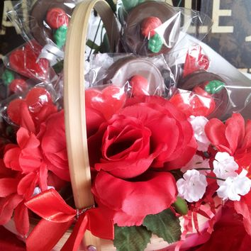 Gourmet Chocolate Covered Oreo Flower Gift Basket