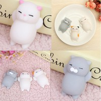 JETTING Kawaii Original Japan Lazy Cat Mochi Decompress Squishy Squeeze Cat Healing Toy
