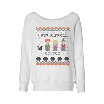 I Put a Spell on You Hocus Pocus Wideneck Sweatshirt
