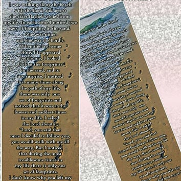 Set of 5 Footprints in the Sand Bookmarks