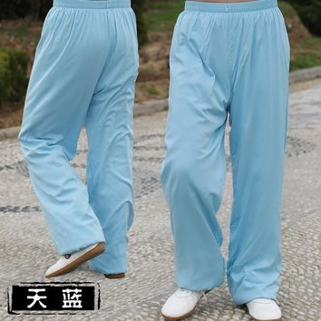 Tai Chi pants Lantern pants Men and women style tai chi clothing Yoga pants Spring and summer cotton training pants