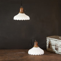 Confectionery Shop Milk Glass Counter Pendants : Factory 20