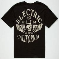 Electric Save Mens T-Shirt Black  In Sizes