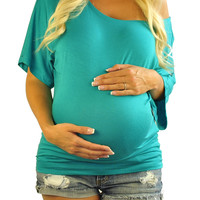 Maternity Tunic Tops-Too Jewel For School