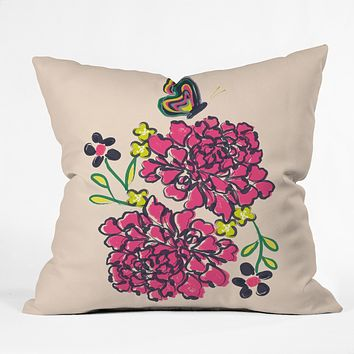 Vy La Budding Love Throw Pillow