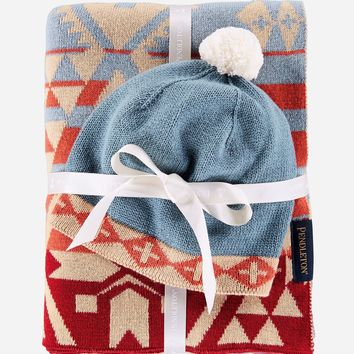 Pendleton - Knit Baby with Beanie Canyonlands Desert Sky Blanket