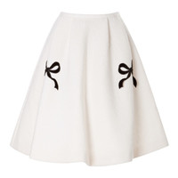 Lilith Bow-Embellished High-Waisted Skirt by Vivetta - Moda Operandi