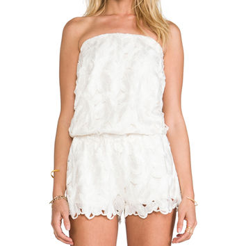 Alexis Cato Strapless Romper in Ivory