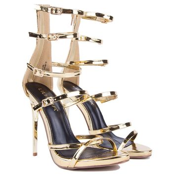TICK TOCK STRAPPY HEEL - What's New