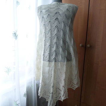 Summer Wedding Bridal Cover Up Handmade Lace Ivory Shawl Bridal Lace Wrap Cotton Shawl Shoulder Shawl Lace Capelet White Knitted Shawl Bride