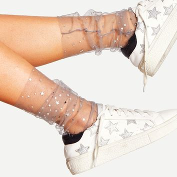 Galaxy Mesh Socks