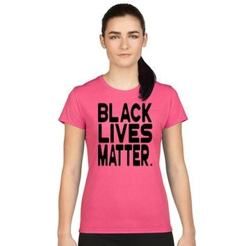 Women's Juniors T Shirt Black Lives Matter