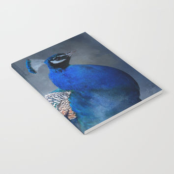 Peacock Blues Clues Notebook by Theresa Campbell D'August Art
