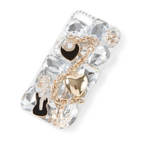 3D Music and Gems Bling Cover for iPhone 5 and 5s