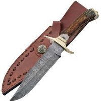 DAMASCUS Bowie Hunting Knife DM1009