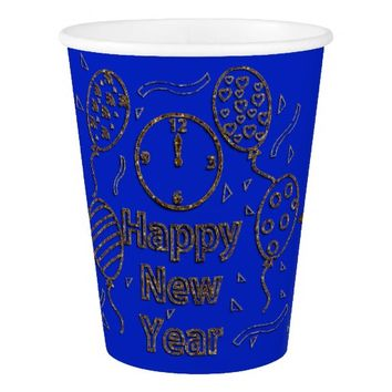 New Year's Celebration PAPER CUPS