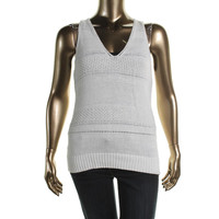Lauren Ralph Lauren Womens Knit V-Neck Tank Top