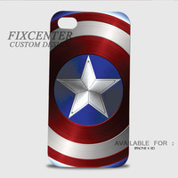 Captain America shield 3D Image Cases for iPhone 4/4S, iPhone 5/5S, iPhone 5C, iPhone 6, iPhone 6 Plus, iPod 4, iPod 5, Samsung Galaxy (S3, S4, S5) by FixCenters