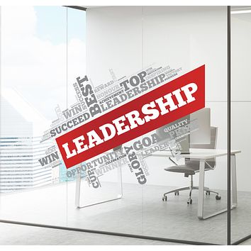Wall Decal Leadership Office Business Success Opportunity Interior Decor zc027