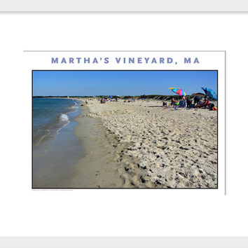 Just an Afternoon on the Beach, Martha's Vineyard Wall Art #488