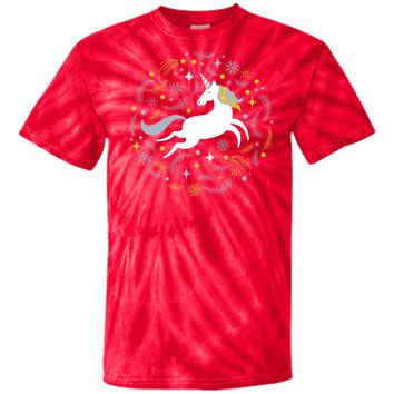 Cute Unicorn Costume CD100 100% Cotton Tie Dye T-Shirt
