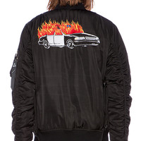 UNIF Hail Cab Bomber Jacket in Black