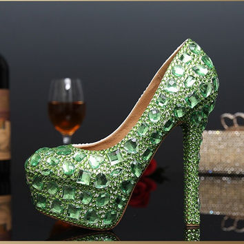 Crystal Glitter Diamond Bridal Shoes