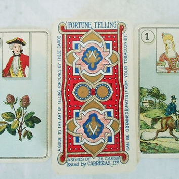 1920s Slim Carreras Fortune Telling Cards - Vintage Carreras Fortune Telling Card Deck