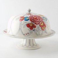 Molly Hatch Peony Portrait Domed Cake Stand in Multi Size: One Size House & Home