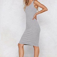 One Step Closer Ribbed Dress