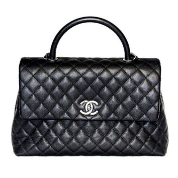 Chanel Coco Handle Bag - Black Caviar Leather - New