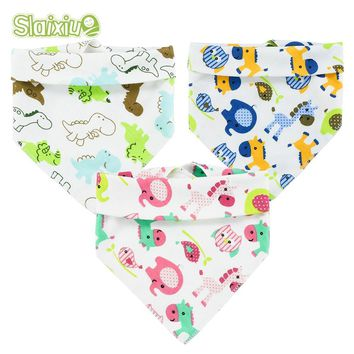 10pcs/lot New Baby Bibs For Boy&Girl Bibs Burp Cloth Cute Cartoon Triangle Children's Cotton Baby Scarf Meal Collar Bandana Bibs