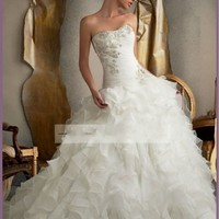 2013 New white/ivory wedding dress custom size 2-4-6-8-10-12-14-16-18-20-22+++