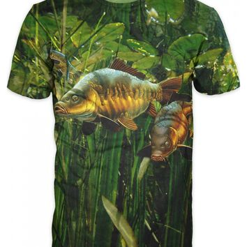 2018 Fashion Many Style 3D Printed Tee Cool Men 3D Fish T-Shirt Hobby  Carp  Tshirt  Oversized Hip Hop