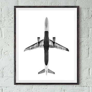 Airplane wall art, airplane print, wall art printable, printable art, home decor art, modern wall art, modern prints, contemporary print