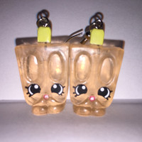 Shopkins Foodie Earrings - Popsi-Cool - repurposed toys