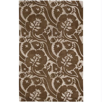 Area Rug - 9' X 13' - Colors Include Dark Beige And Sepia