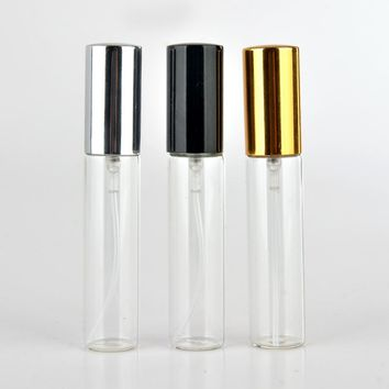 10ml empty glass spray bottle small empty cosmetic containers portable travel refillable perfume atomizer