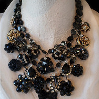 Colossal Necklace Black is WEAR it's AT Send Me YouR by KayAdams