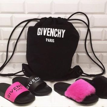 Givenchy Fashion Women Men Casual Summer Classic Simple Sandal Slipper Shoes I