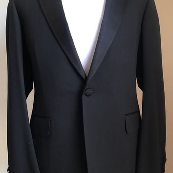 New $3500 Gucci Wool Tuxedo Suit Black 40R US ( 50R Eu) Italy
