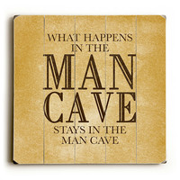 Man Cave - Planked Wooden Art Sign