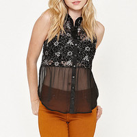 Kirra Lurex Lace Babydoll Shirt at PacSun.com