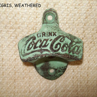 Coke Bottle Opener/Coca Cola/Bar/Kitchen/Man Cave/Man's Gift/Nostalgia
