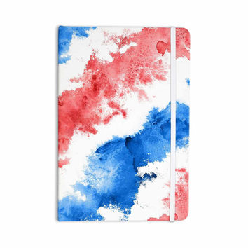 "Kess Original ""Patriotic Watercolor "" Red White Everything Notebook"