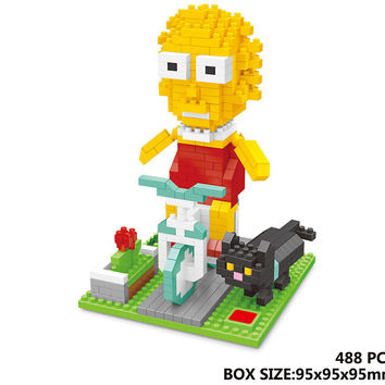 Lisa Simpson Building Block Set 488 Pcs